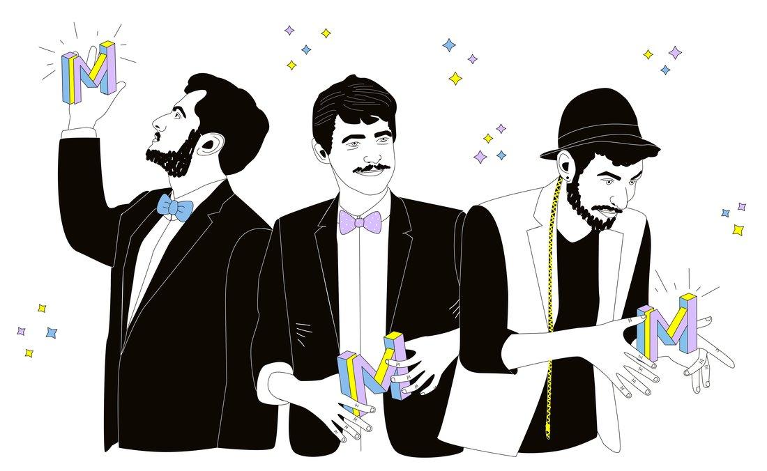 Trio de magiciens de the Martin's